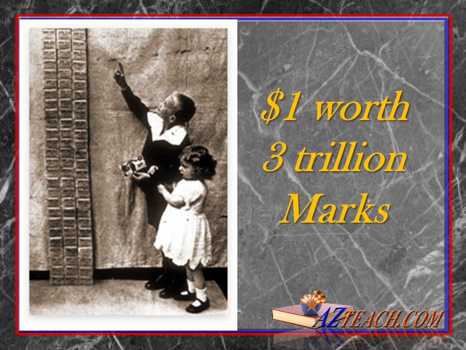 $1 worth 3 trillion Marks