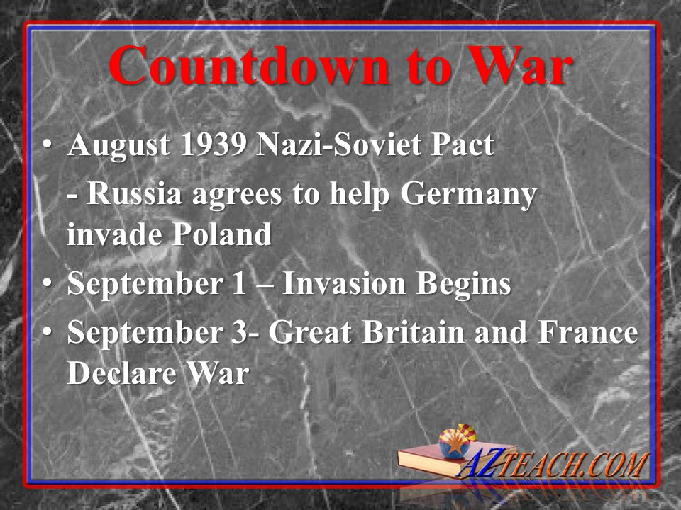 Countdown to War August 1939 Nazi-Soviet Pact