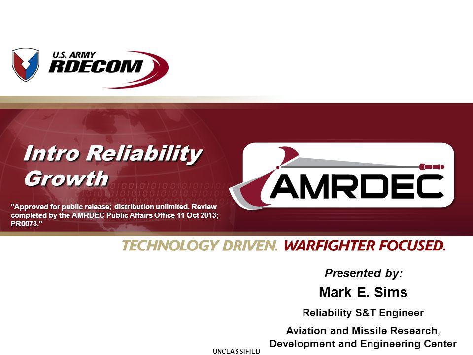 Intro Reliability Growth