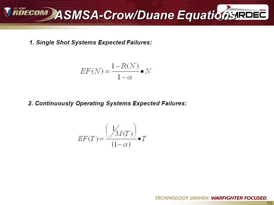 ASMSA-Crow/Duane Equations