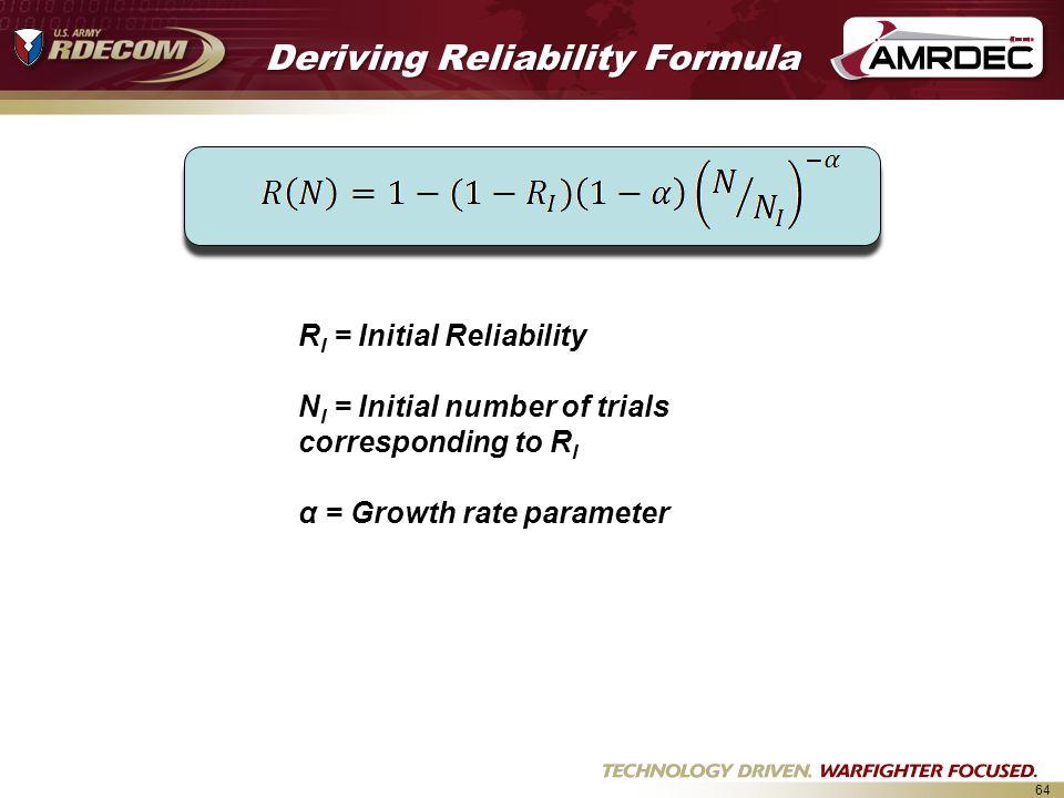 Deriving Reliability Formula