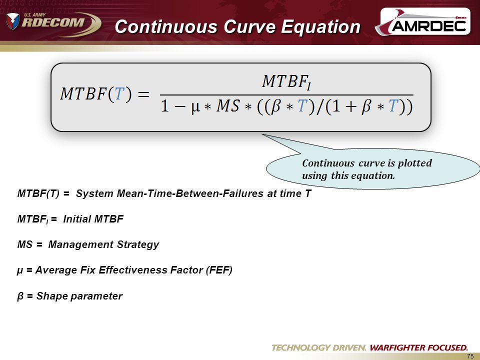 Continuous Curve Equation
