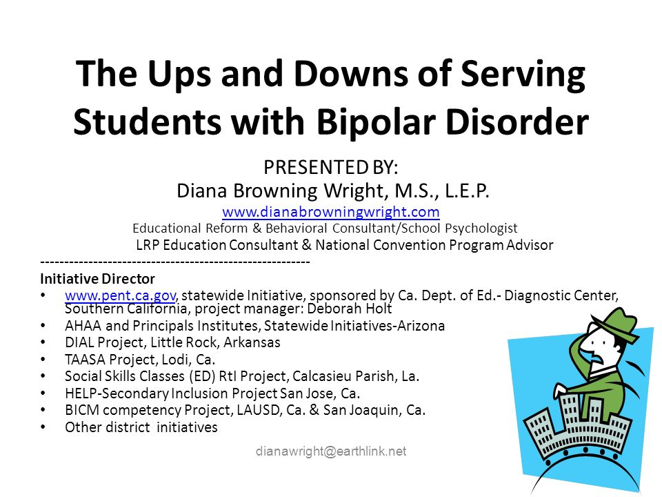 The Ups and Downs of Serving Students with Bipolar Disorder
