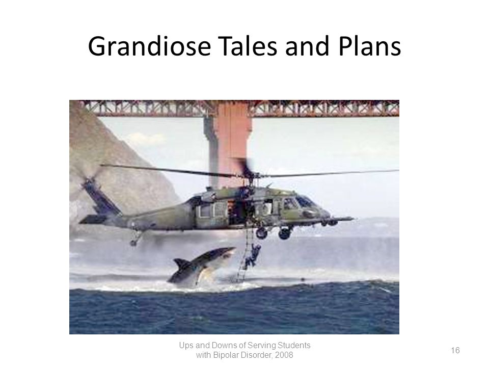 Grandiose Tales and Plans