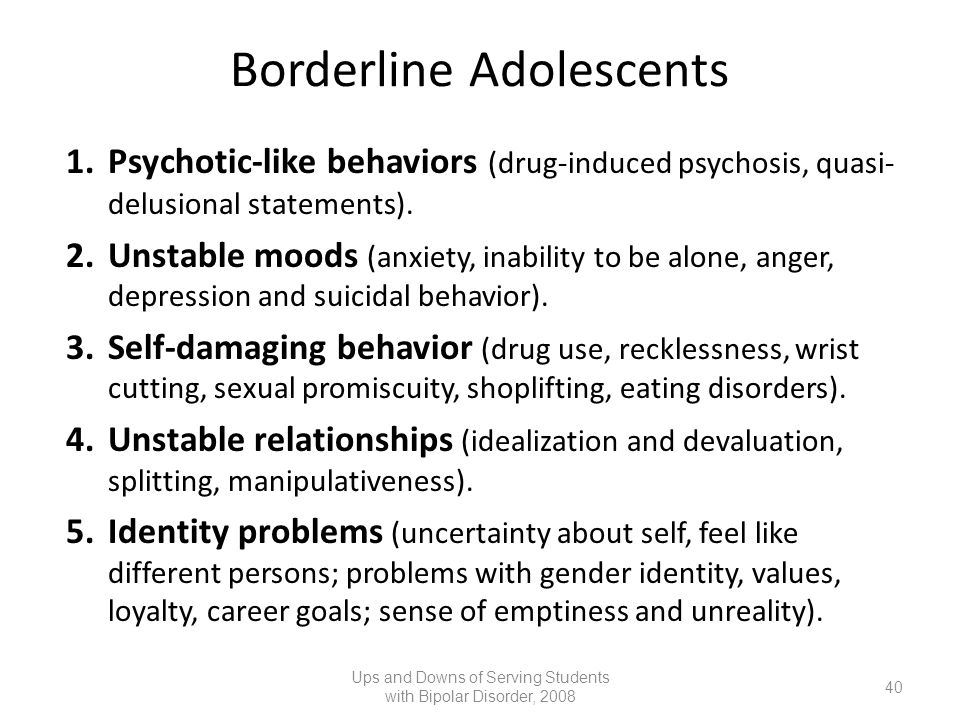 Borderline Adolescents