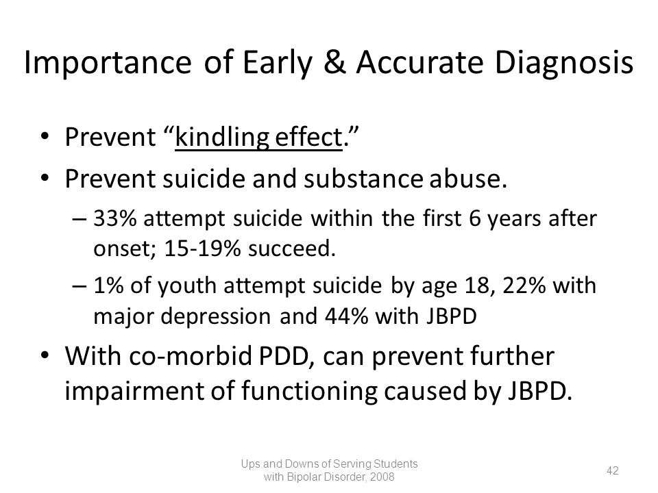 Importance of Early & Accurate Diagnosis