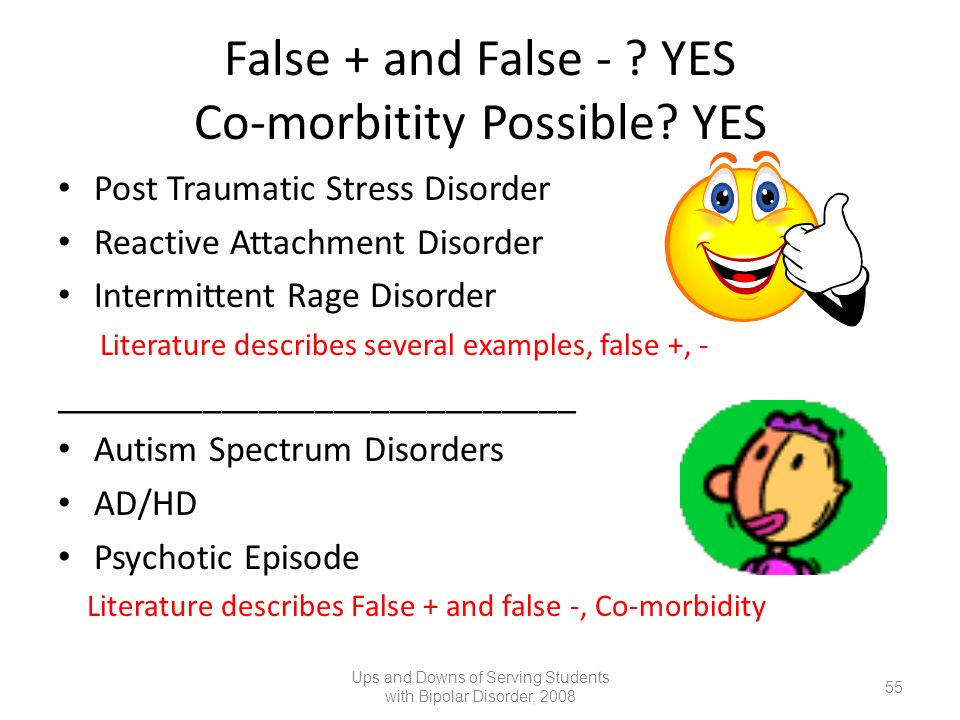 False + and False - YES Co-morbitity Possible YES