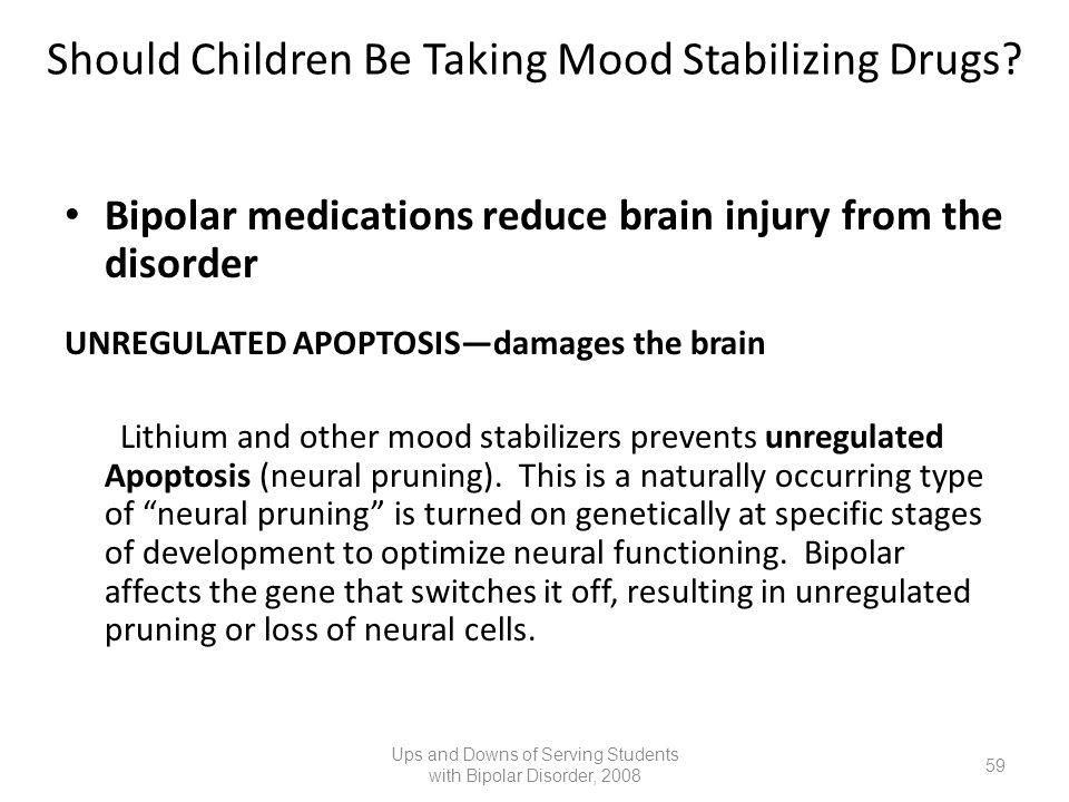 Should Children Be Taking Mood Stabilizing Drugs