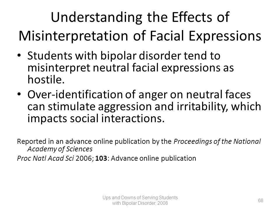 Understanding the Effects of Misinterpretation of Facial Expressions