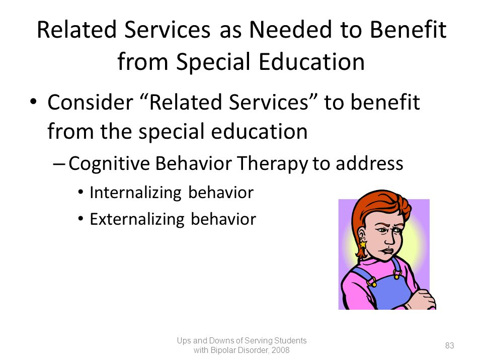 Related Services as Needed to Benefit from Special Education