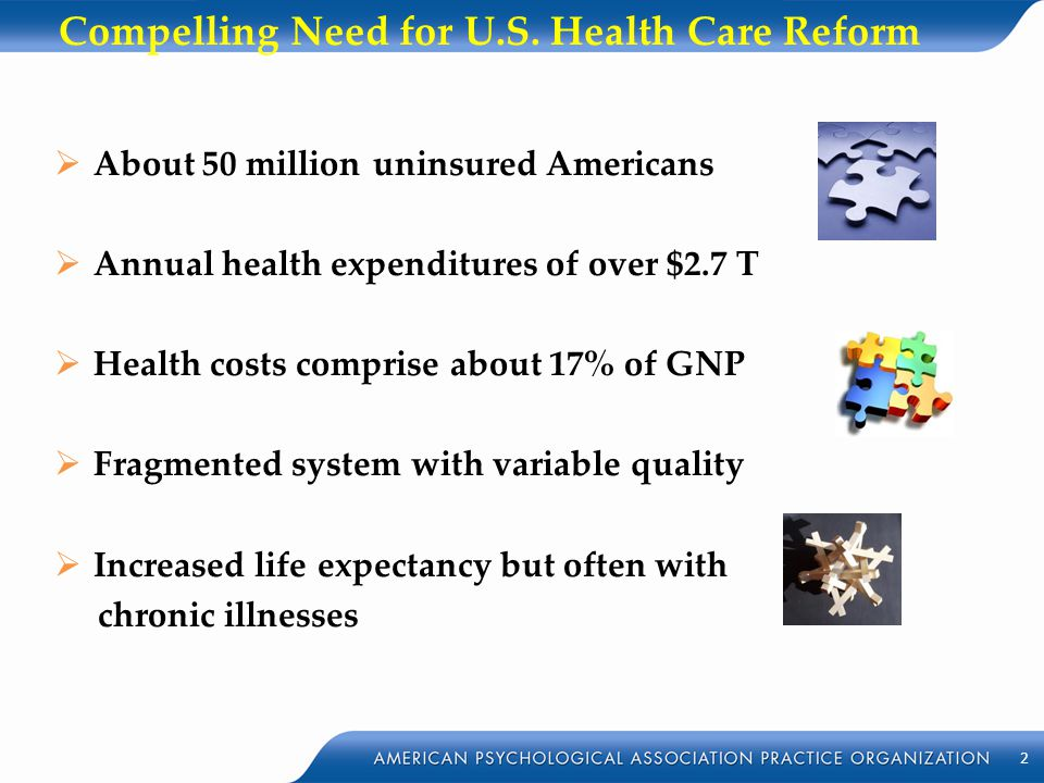 Compelling Need for U.S. Health Care Reform