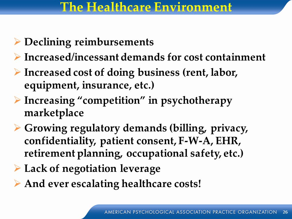 The Healthcare Environment