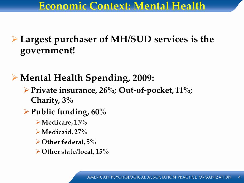 Economic Context: Mental Health
