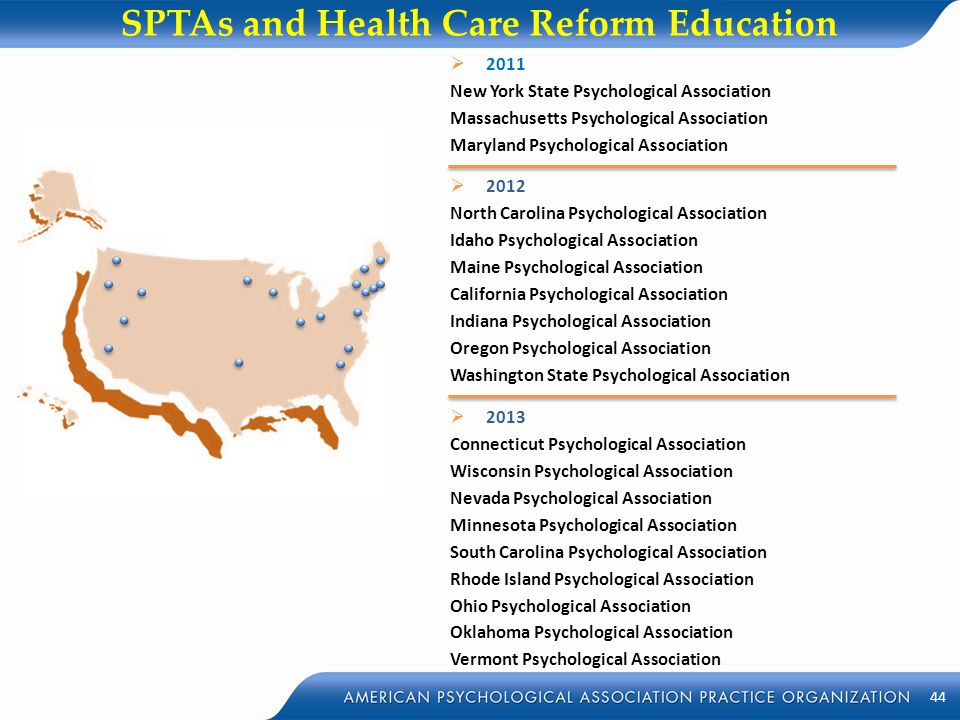 SPTAs and Health Care Reform Education