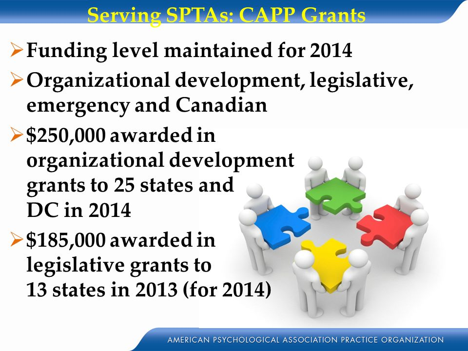 Serving SPTAs: CAPP Grants