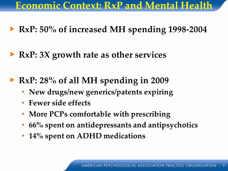 Economic Context: RxP and Mental Health