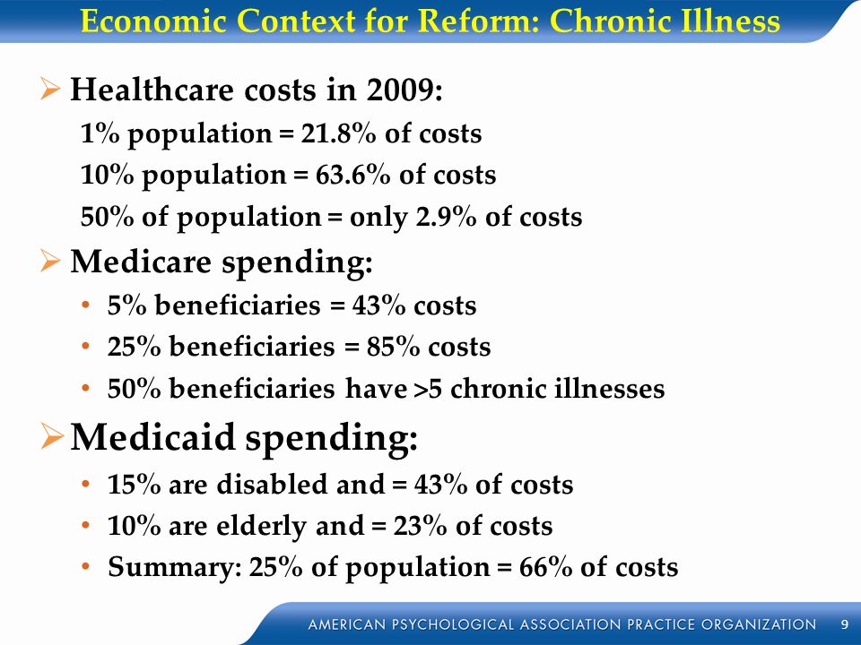 Economic Context for Reform: Chronic Illness