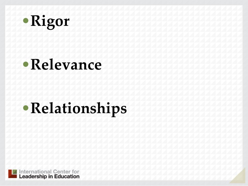 Rigor Relevance Relationships 49