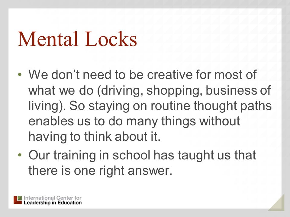 Mental Locks