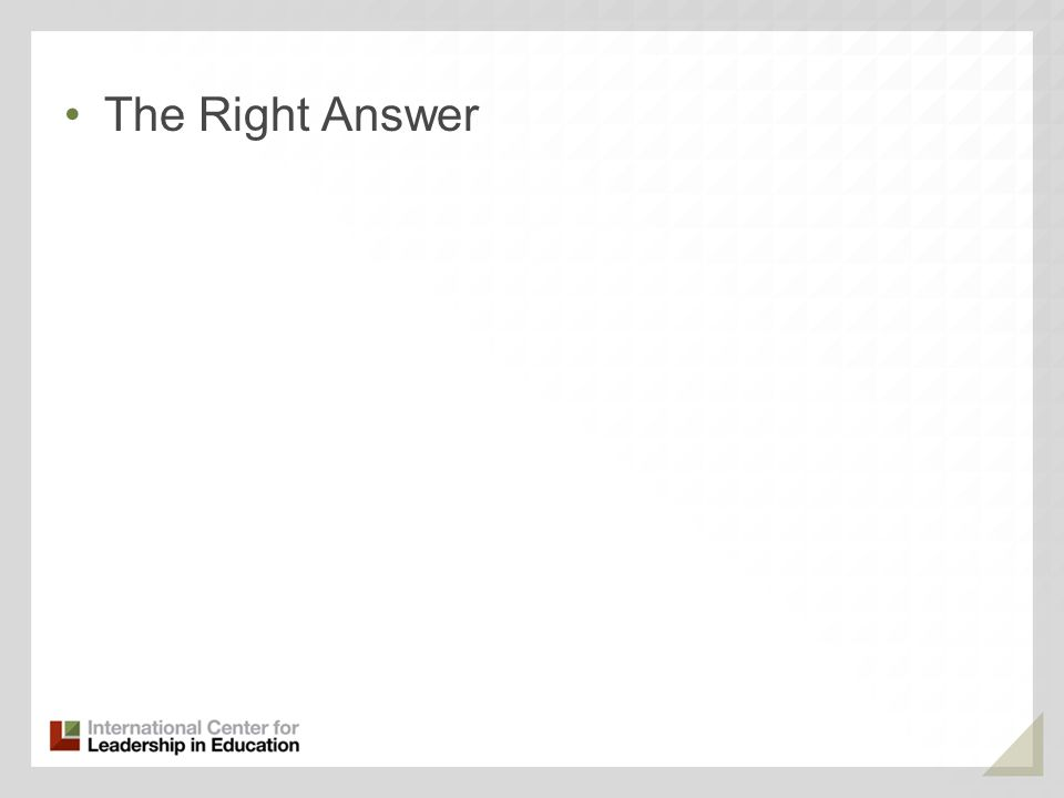 The Right Answer 90