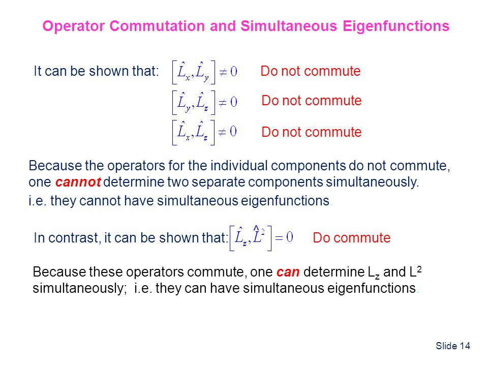 Operator Commutation and Simultaneous Eigenfunctions