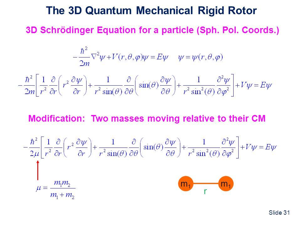 The 3D Quantum Mechanical Rigid Rotor