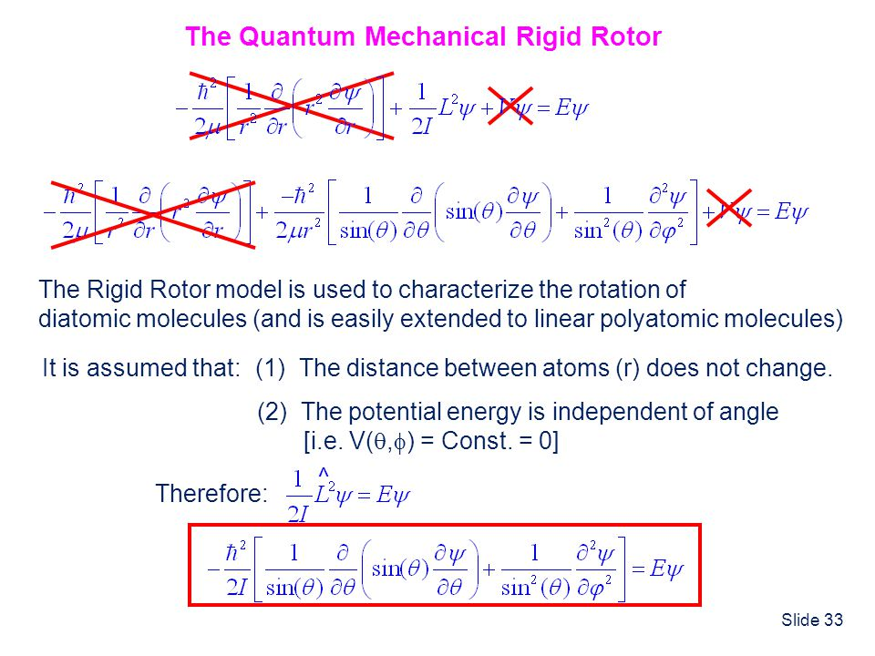 The Quantum Mechanical Rigid Rotor