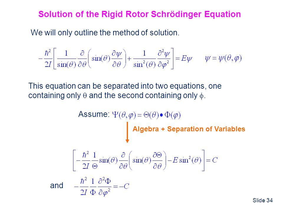 Solution of the Rigid Rotor Schrödinger Equation