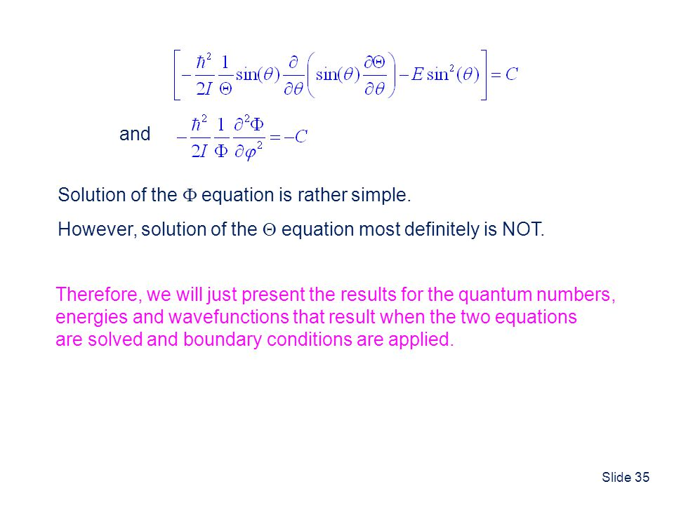 and Solution of the  equation is rather simple. However, solution of the  equation most definitely is NOT.