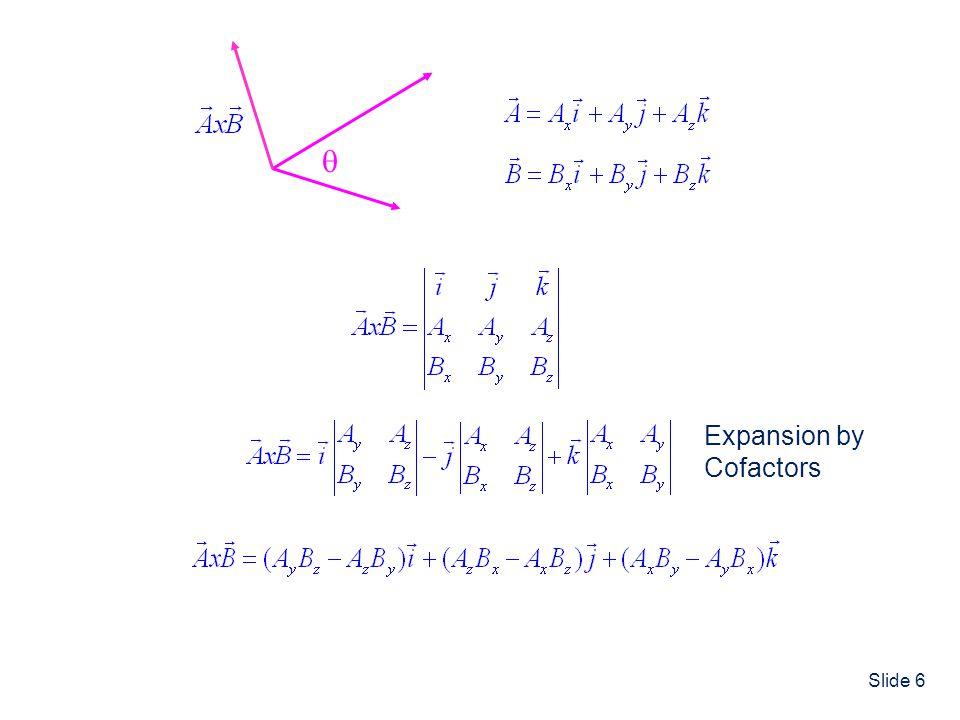  Expansion by Cofactors