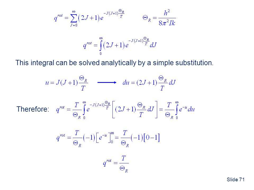 This integral can be solved analytically by a simple substitution.