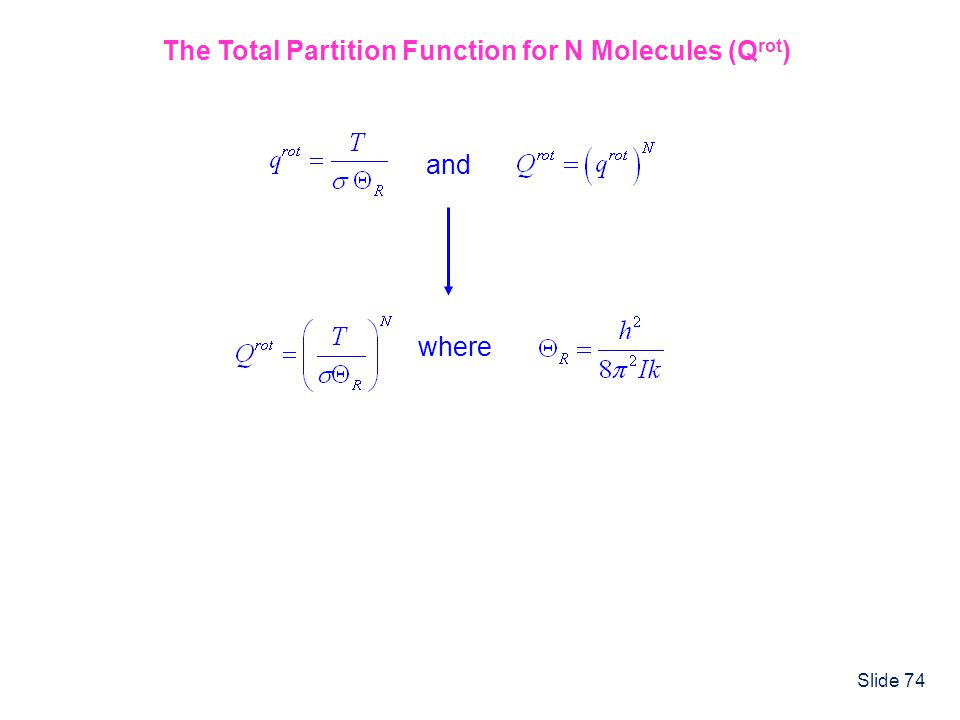 The Total Partition Function for N Molecules (Qrot)