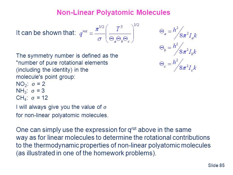 Non-Linear Polyatomic Molecules