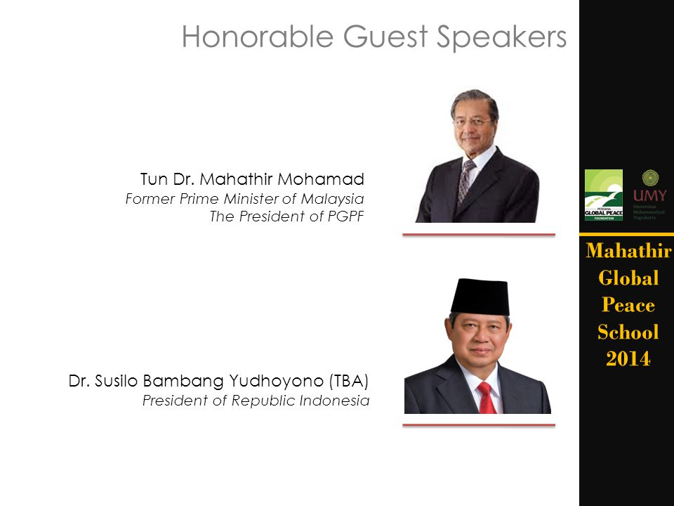 Honorable Guest Speakers