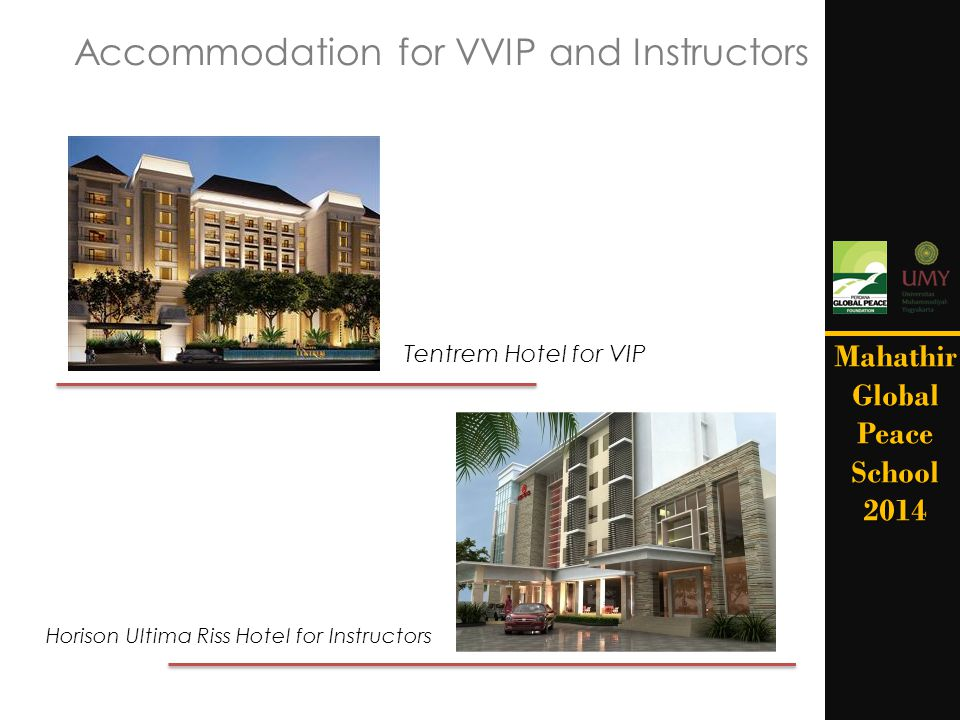 Accommodation for VVIP and Instructors