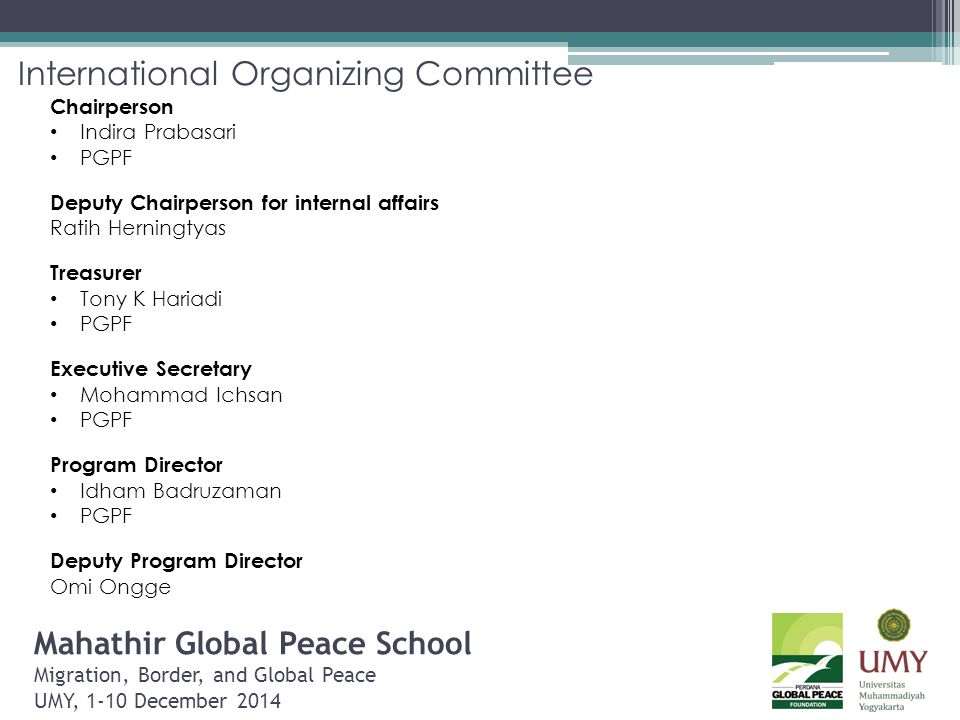 International Organizing Committee