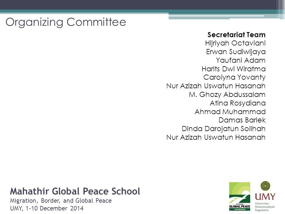 Organizing Committee Secretariat Team. Hijriyah Octaviani. Erwan Sudiwijaya. Yaufani Adam. Harits Dwi Wiratma.
