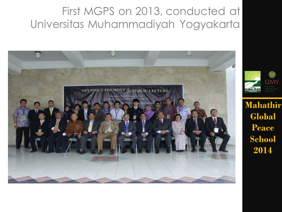 First MGPS on 2013, conducted at Universitas Muhammadiyah Yogyakarta