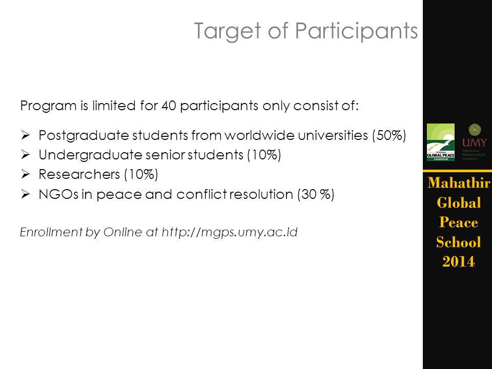 Target of Participants