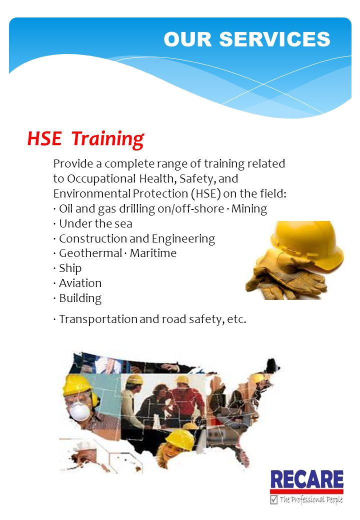 HSE Training OUR SERVICES