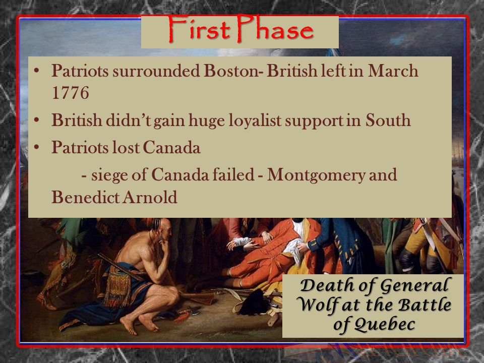 Death of General Wolf at the Battle of Quebec