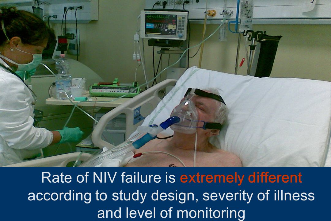 Rate of NIV failure is extremely different according to study design, severity of illness and level of monitoring