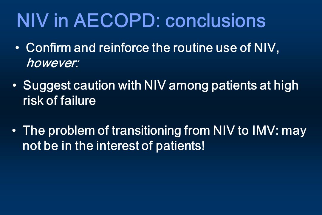 NIV in AECOPD: conclusions
