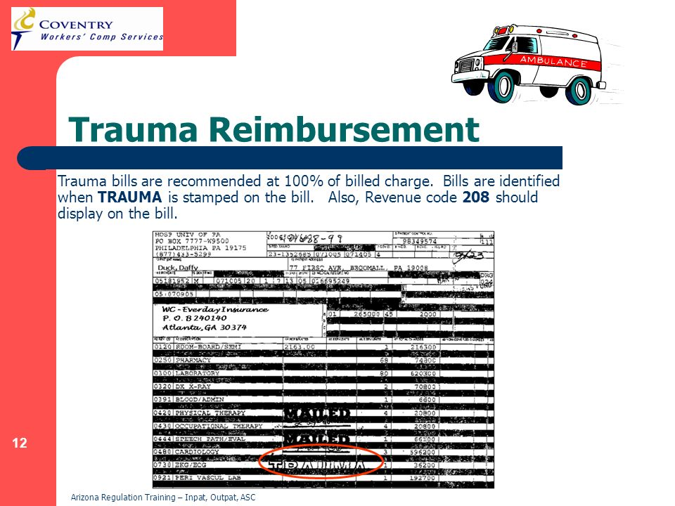 Trauma Reimbursement