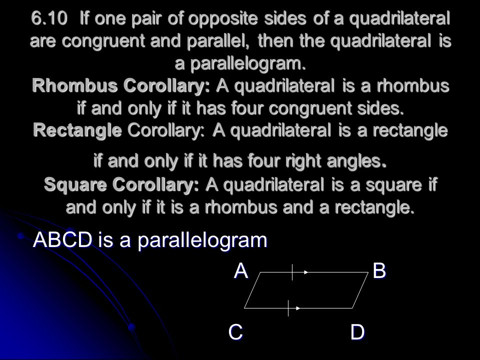 ABCD is a parallelogram A B C D