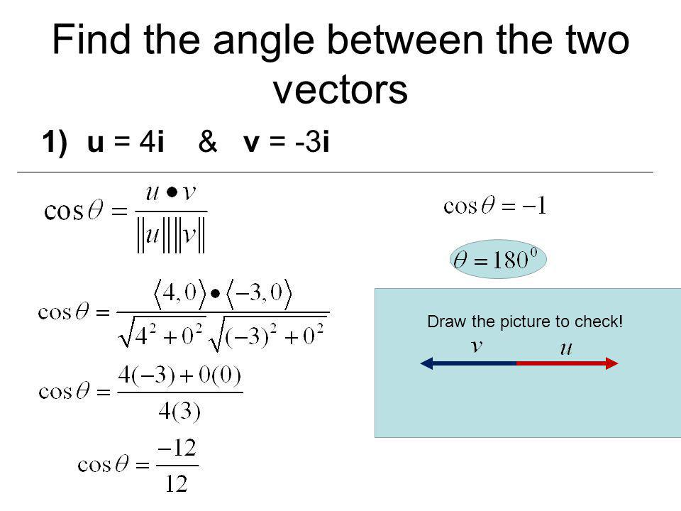 How to determine if two vectors are parallel orthogonal