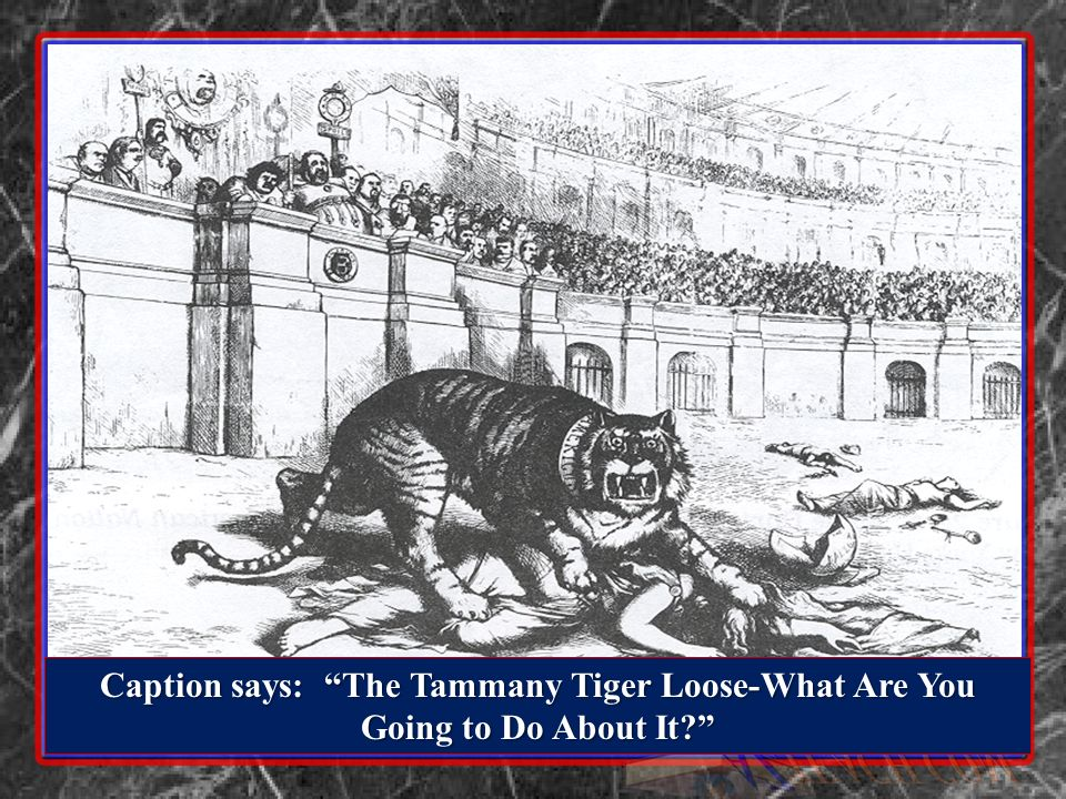Caption says: The Tammany Tiger Loose-What Are You Going to Do About It