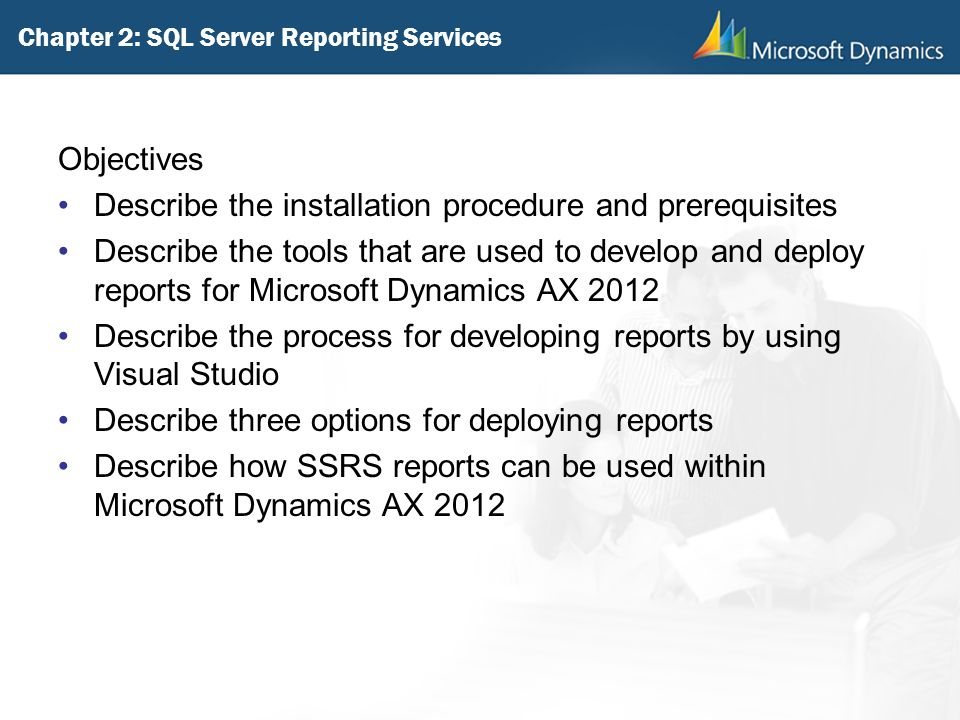 Chapter 2: SQL Server Reporting Services