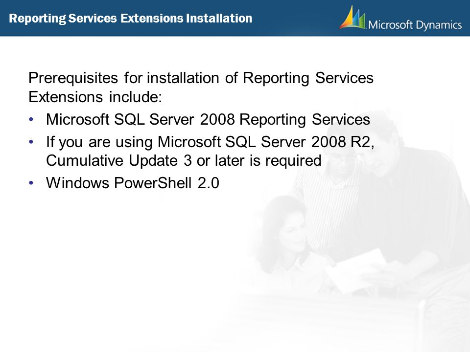 Reporting Services Extensions Installation