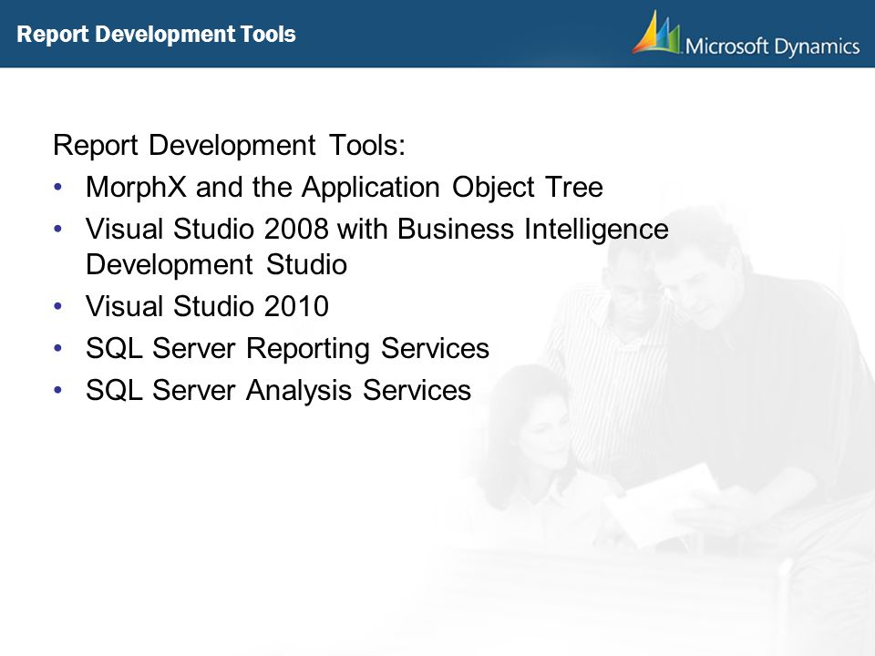Report Development Tools